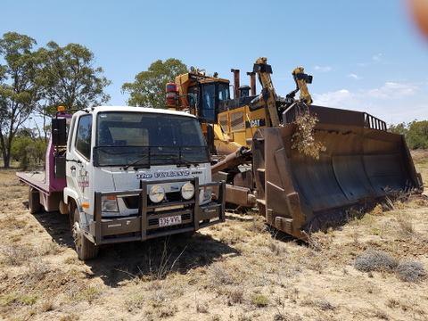 Vulcan Tilt Haulage truck and bulldozer
